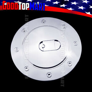 For Chevy Silverado 1999 2001 2002 2003 2004 2005 2006 Chrome Gas Cap Door Cover