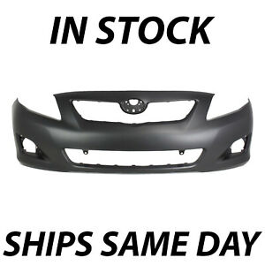 New Primered Front Bumper Fascia For 2009 2010 Toyota Corolla Sedan To1000343