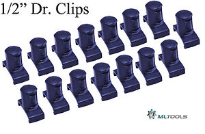 Mltools Dura pro Twist Lock Socket Clips Fits Ernst Organizer Made In Usa