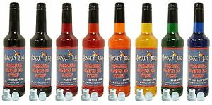 8 Bottles Of Snowcone Syrup Made With Pure Cane Sugar