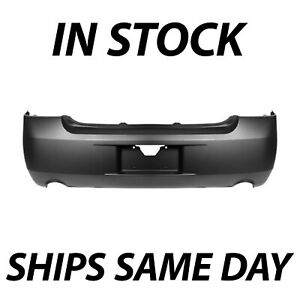 New Primered Rear Bumper Cover Replacement For 2006 2013 Chevy Impala W Dual