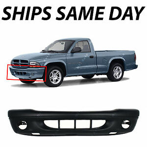 New Primered Front Bumper Cover For 2001 2004 Dodge Dakota Truck W Fog 01 04