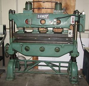 Sandt Die Cutter Press Machine Table 60 X 22 With Hydraulic Unit