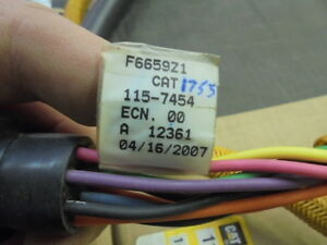 Caterpillar Cat 115 7454 Vims Rear Lights Payload Harness Cable 3516 B486257