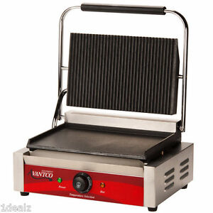 Avantco P75sg Grooved Top Commercial Panini Sandwich Grill With Rebate 10
