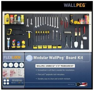 Wallpeg Pegboard Panels Shelves Bins Locking Peg Hooks For Tool Storage 48 B