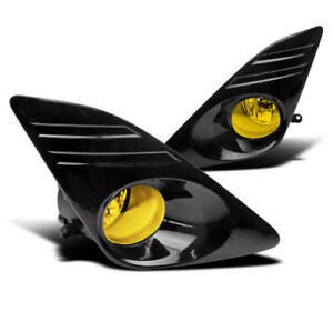 2012 2014 Toyota Camry Yellow Bumper Driving Fog Lights Lamp black Cover harness