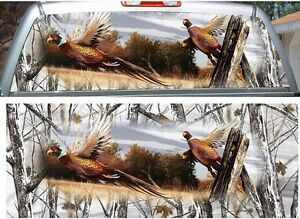 Pheasant Camouflage Hunting Rear Window View Thru Graphic Decal