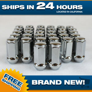 32 Chrome Lugnuts Extended For 14x1 5 Fits Chevy Gmc Tall Xl Truck Long Lug Nut