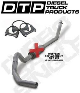 4 Exhaust Fits Dodge Cummins Diesel 94 02 5 9l K4212a Rp Straight Pipe