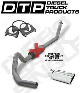 4 Exhaust Fits Dodge Cummins Diesel 94 02 5 9l K4212a Rp W Tip Straight Pipe