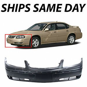 New Primered Front Bumper Cover For 2000 2005 Chevy Chevrolet Impala W Fog