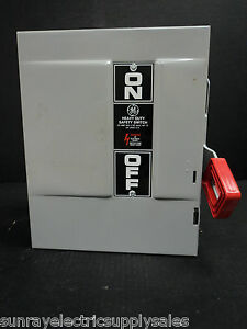 Ge Industrial Thn2261dc 30a 600vac 250vdc 2p Nf Heavy Duty Safety Switch New