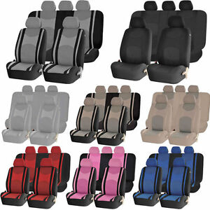 Mesh Truck Combo Front Seat Back Row Split Bench Steering Covers