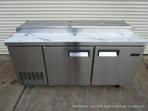 New Equipchefs 72 Refrigerated Pizza Prep Table Picl 2 On Casters Picl2