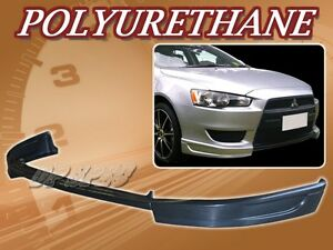 For 08 15 Mitsubishi Lancer Poly Urethane Pu Front Bumper Lip Spoiler Body Kit
