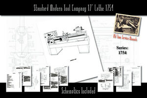 Standard Modern Tool Company 17 Lathe 1754 Owners Users Service Manual