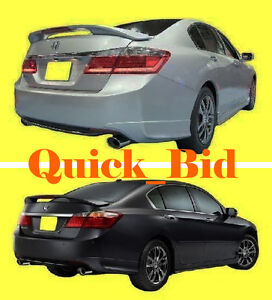 Brand New 2013 2014 Honda Accord 4d Factory Style Rear Wing Spoiler Primer