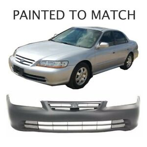 Painted To Match Fits 2001 2002 Honda Accord Sedan Front Bumper
