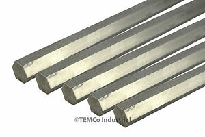 5 Lot 1 2 Inch 18 Long 304 Stainless Steel Hex Bar Lathe Ss Rod Stock 50
