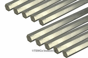 10x 1 2 Inch 18 Long 304 Stainless Steel Hex Bar Lathe Ss Rod Stock 50