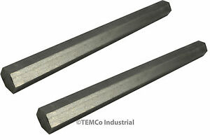 2x 7 8 Inch 10 Long 304 Stainless Steel Hex Bar Lathe Ss Rod Stock 875