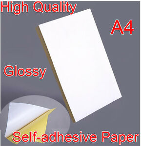 21x29cm A4 Blank Glossy Self adhesive Sticker Sticky Back Label Printer Paper