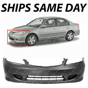New Primered Front Bumper Cover For 2004 2005 Honda Civic Sedan Coupe 04 05