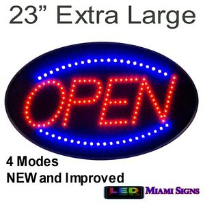 Led Open Sign Neon Extra Large 23 4 Modes New Improved Quality Led Open Sign
