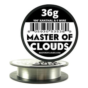 100 Ft 36 Gauge Awg A1 Kanthal Round Wire 0 127 Mm Resistance A 1 36g Ga 100