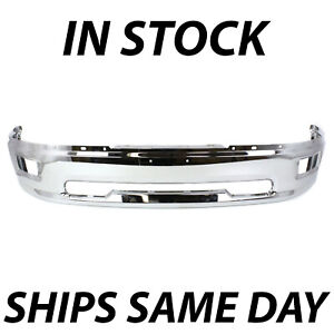 New Chrome Front Bumper Face Bar For 2009 2010 2011 2012 Dodge Ram 1500 W Fog