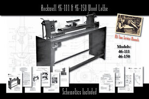 Rockwell 46 111 14 11 46 150 Wood Lathe Service Owner s Manual Parts List