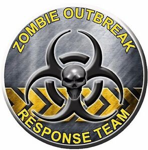 Bio Hazard Zombie Response Motorcycle Go Kart Race Car Hood Vinyl Graphic Decal