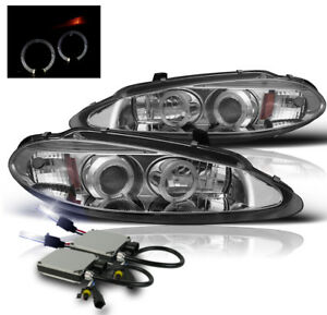 1998 2004 Dodge Intrepid 4dr Chrome Halo Projector Headlights Lamp W 10k Hid New
