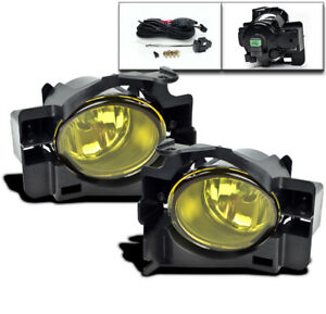 Lower Bumper Yellow Fog Lights Kit W bulbs switch For 2008 2012 Altima Coupe 2dr