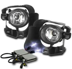 Front Lower Driving Fog Lights Chrome 10k Xenon Hid Kit For 2014 2015 Versa Note