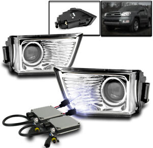 2003 2005 Toyota 4runner Lower Bumper Driving Projector Fog Lights 10k Xenon Hid