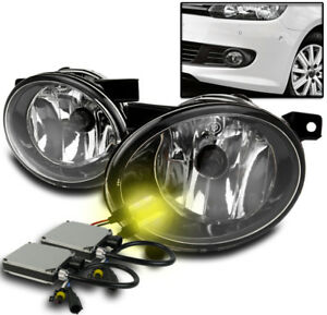 2010 2014 Vw Golf Jetta Mk6 Chrome Bumper Driving Fog Lights 3000k Xenon Hid New