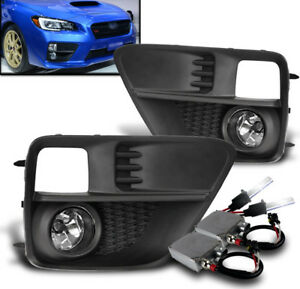 Lower Bumper Chrome Driving Fog Lights W 50w 6k Xenon Hid For 2015 2017 Wrx Sti