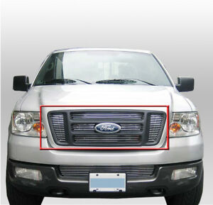Ford 2004 2008 F 150 Truck Front Top Main Upper Billet Grille 6pcs Grill Insert