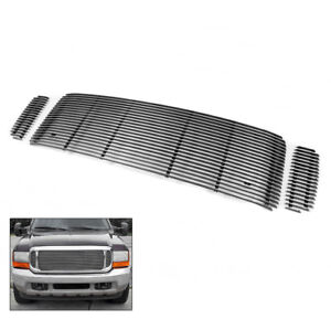 Ford 1999 04 F250 F350 Sd 2000 Excursion Front Upper Billet Grille Grill Insert