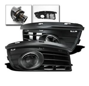 Vw 2006 2010 Jetta Mk5 Projector Lower Driving Clear Fog Light Lamp black Covers