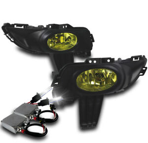 2004 2005 2006 Mazda 3 Mazda3 4dr Jdm Yellow Bumper Fog Lights Switch 50w 6k Hid