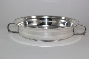 Vintage Silver Plate Round Ornate Server Cover With Handles For Serving Bowls