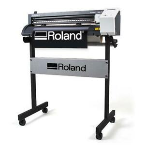 24 Roland Gs 24 Camm 1 Vinyl Cutter plotter Cutting Plus Free Stand Make Signs