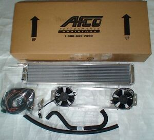 Supercharged 03 04 Cobra Double Dual Pass Afco Heat Exchanger Intercooler Fans