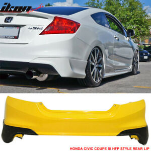 Fits 12 13 Civic Coupe Si Only Hf p Style Rear Aprons Lip pu