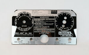 Lincoln Sa 200 Mirrored Stainless Steel Faceplate Black Face Welder L 5750 Bw681