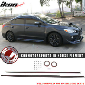 Fits 15 18 Subaru Wrx Sti Mp Style Side Skirts Splitter Unpainted Abs