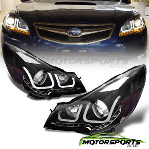 u Type led Signal for 2010 2014 Subaru Outback legacy Blk Projector Headlights